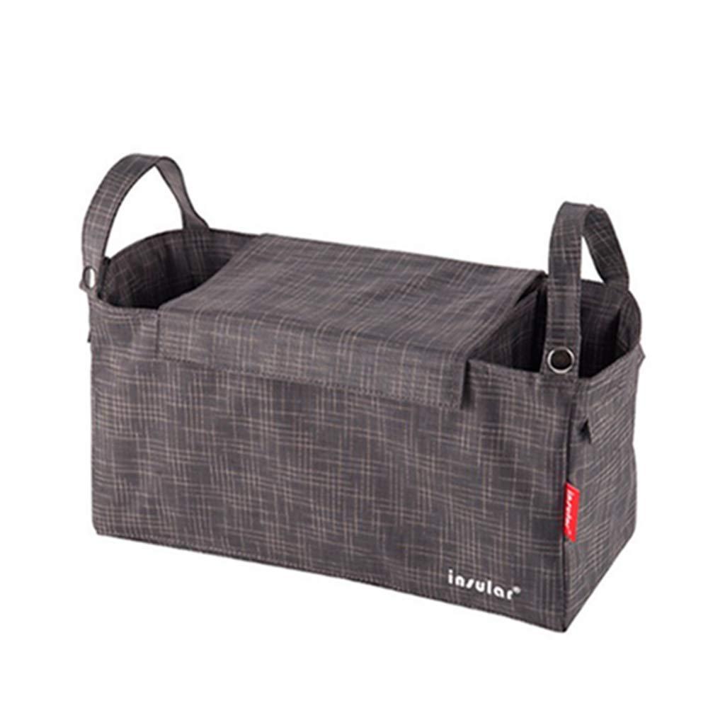 QIQI Sacchetto di Mummia, Multi-Funzione Baby Passeggino Borsa Materna E Bambino Forniture Impermeabile Nylon Madre Bag,Gray