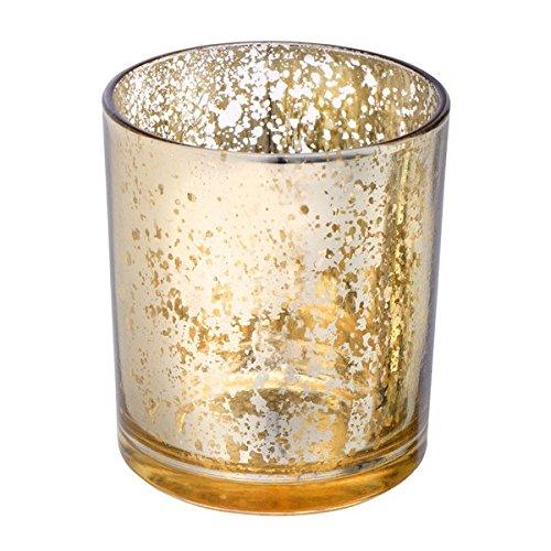 dorado 70/x 90/mm Club verde cristal portavelas