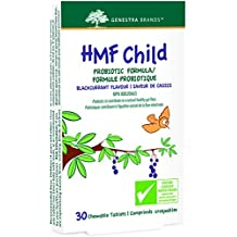 Genestra Brands - HMF Child - Probiotic Formula - Supports Gastrointestinal Health, Immune Response, and Skin Health - Blackcurrant Flavour - 30 Chewable Tablets