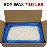 EricX Light Natural Soy Wax 10 Pound,121℉ melt Point, with 120 Candle Wicks and 3 Wick Centering Devices for Candle Making