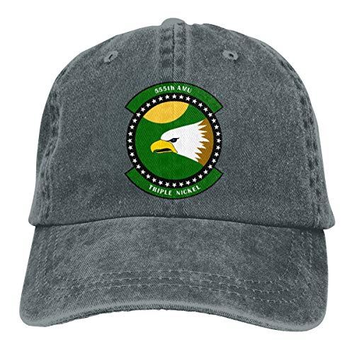 JSHG JDJG 555th Fighter Squadron Emblem Unisex Truck Baseball Cap Adjustable Hat Military Caps Deep Heather