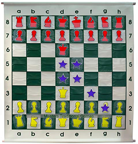 Large Demo Chess Board – Slot-in Pieces (92cm)