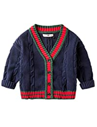 LJYH Boys Long Sleeve Cardigan Sweater Button Cotton Knit Sweaters Winter