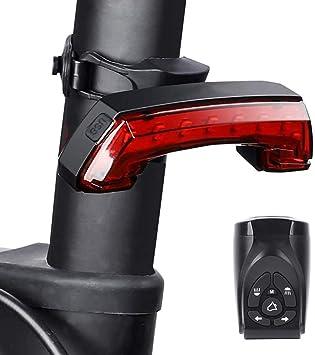 Calayu Smart - Luz trasera para bicicleta, luz trasera LED con timbre y función de alarma, recargable por USB, sirena: Amazon.es: Deportes y aire libre