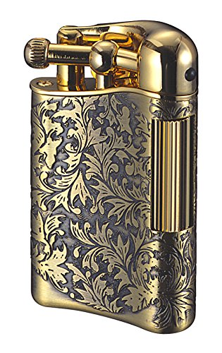 Sarome Flint Lighter for Pipe PSD12-11 Antique brass arabesque by Sarome