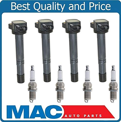 Mac Auto Parts 157928 New Ignition Coils & Platinum Spark Plugs Fits For 02-06 Acura RSX Honda CRV 8Pc ()