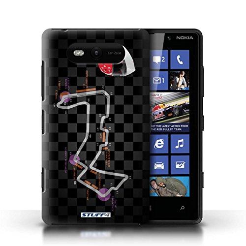 Etui / Coque pour Nokia Lumia 820 / Singapour conception / Collection de 2014 F1 Piste