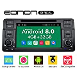 Car Stereo Radio Eonon Double Din with Backup Camera Touch Screen, 4GB RAM 32GB ROM Octa-Core Applicable to BMW 3 Series 1999,2000,2001,2002,2003 and 2004(E46)Support Dual Bluetooth, Fastboot-GA9150B