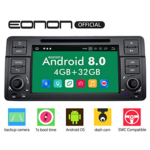 (Car Stereo Radio Eonon Double Din with Backup Camera Android Auto, 4GB RAM 32GB ROM Octa-Core Applicable to BMW 3 Series 1999,2000,2001,2002,2003 and 2004(E46)Support Dual Bluetooth,)