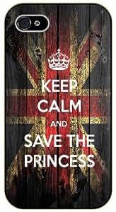 iPhone 5C Keep calm and save the princess - black plastic case / Keep calm