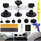 Barised 22PCS Auto Body Paintless Dent Removal Tools Kit Bridge Dent Puller Kits with Hot Melt Glue Gun and Glue Sticks