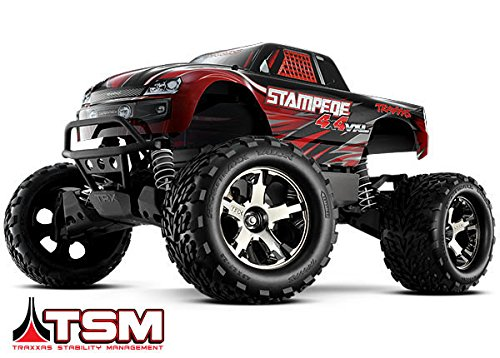 Traxxas 67086-4 1/10 Stampede 4X4 VXL 4WD Electric Monster Truck, Colors Vary