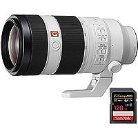 Sony FE 100-400mm f/4.5-5.6 GM OSS Full Frame E-Mount Lens SEL100400GM + Sandisk Extreme PRO SDXC 128GB UHS-1 Memory Card