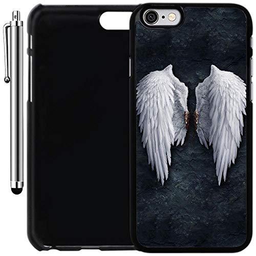 innosub - Carcasa para iPhone 6 Plus y 6S Plus (5,5 Pulgadas), diseño de alas de ángel en la Pared, Color Negro