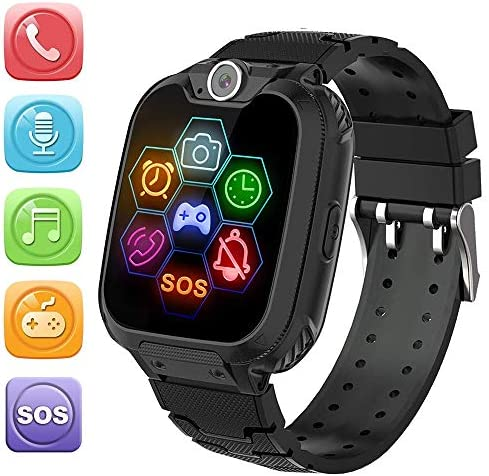 HuaWise Kids Smartwatch[SD Card Included], Waterproof Smartwatch for Kids with Quick Dial, SOS Call, Camera and Music Player, Birthday Gift Game Watch for Boys and Girls