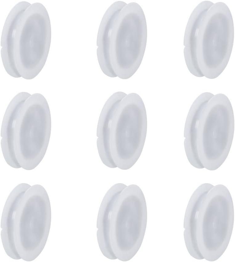 NBEADS 50 Unids Carretes de Plástico Blanco Carrete Vacío Carretes de Bobinas de la Máquina de Coser Carretes de Hilo de Cuerda de Alambre Cable de Cadena de Carrete