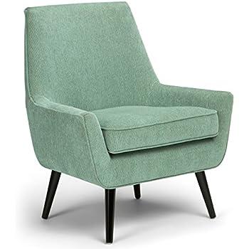 Amazon Com Rivet Leather Low Arm Accent Chair Cognac