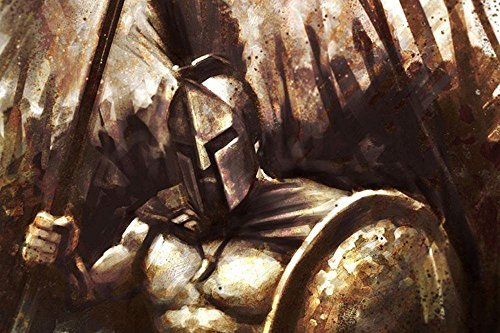 (Tomorrow sunny 300 Spartans Shields Spears fabric cloth art canvas Movie POSTER Print-Art Silk Poster24x36inch)
