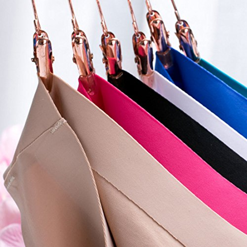 ebc5ce5bca Kingfung 6 Pack Women s Invisible Seamless Bikini Underwear Half Back  Coverage Panties