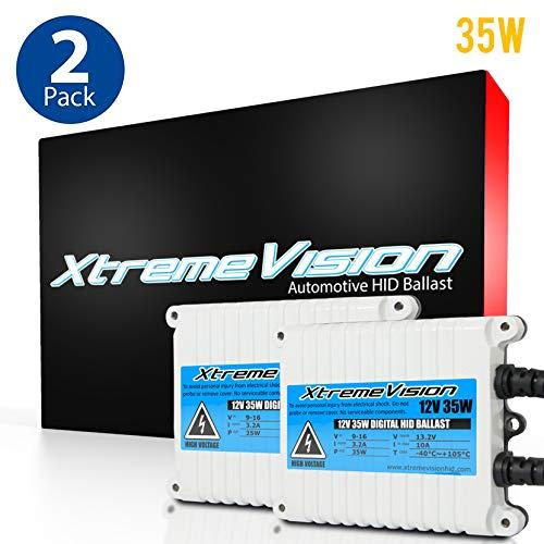 Xenon Ballast (XtremeVision AC 35W HID Xenon Premium Slim Ballast (Pair - 2 PCS) - 2 Year Warranty)