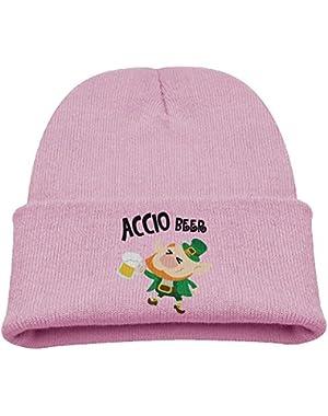 Accio Beer Saint Patrick's Day Kids Beanie Comfortable Hats