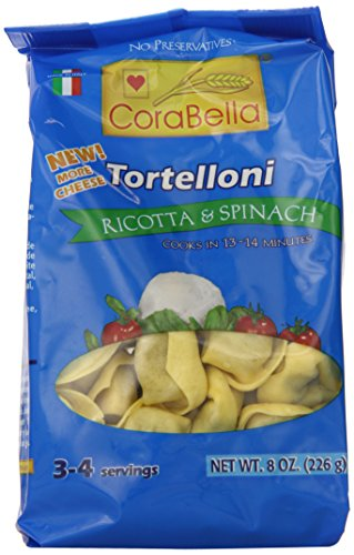 Corabella Tortelloni Pasta, Ricotta and Spinach,8 Ounce (Pack of 12)