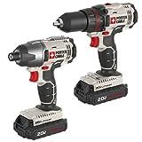 Cordless Drill Driver - PORTER-CABLE PCCK604L2 20V Max Lithium Ion 2-Tool Combo Kit