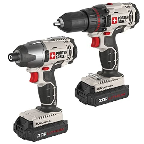 PORTER-CABLE PCCK604L2 20V Max Lithium Ion 2-Tool Combo Kit (Lightweight Corded Drill)
