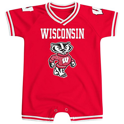 University of Wisconsin Badgers Onesie Super Fan Jersey Romper (0-3 M)
