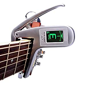 guitar capo tuner kuyou 2 in 1 meter capo automatic tuner for guitar ukulele violin. Black Bedroom Furniture Sets. Home Design Ideas
