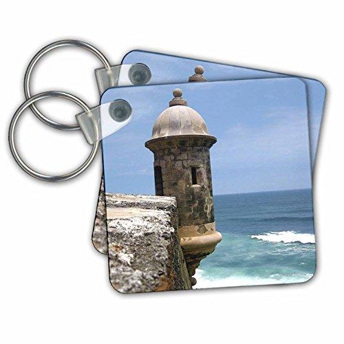 Danita Delimont - Fortifications - Puerto Rico, San Juan, Fort San Felipe del Morro-CA27 MGL0003 - Miva Stock - Key Chains - set of 2 Key Chains (kc_72245_1)