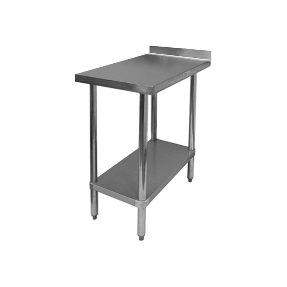 EquipmentBlvd Commercial Grade All Stainless Steel Work Table w/ 4'' Backsplash for Restaurant, Home, Office, Kitchen or Garage, 30''W x 24''L x 35''H, ETL or NSF Certified.
