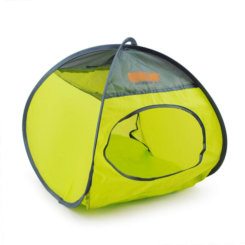 BROWN 274052CM BROWN 274052CM Ronghuafugui Summer Pet Breathable Tent Deformable Folding Dog Tent Closed Cat Litter Indoor Pet House Outdoor Pet Travel Tent (color   BROWN, Size   27  40  52CM)