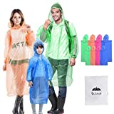 Best Travel Ponchos - Walsilk 8 Pack Family Pack Disposable Rain Ponchos Review