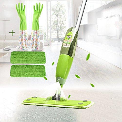 Floor Mop,Clean Mop,Floor Spray Mop,Water mop,360 Degree Microfiber Spray Mop Gift (Clean Gloves and Mop (Fiber Port Types)