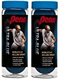 Penn Ultra-Blue Racquetballs (2 cans), 3 Ball can