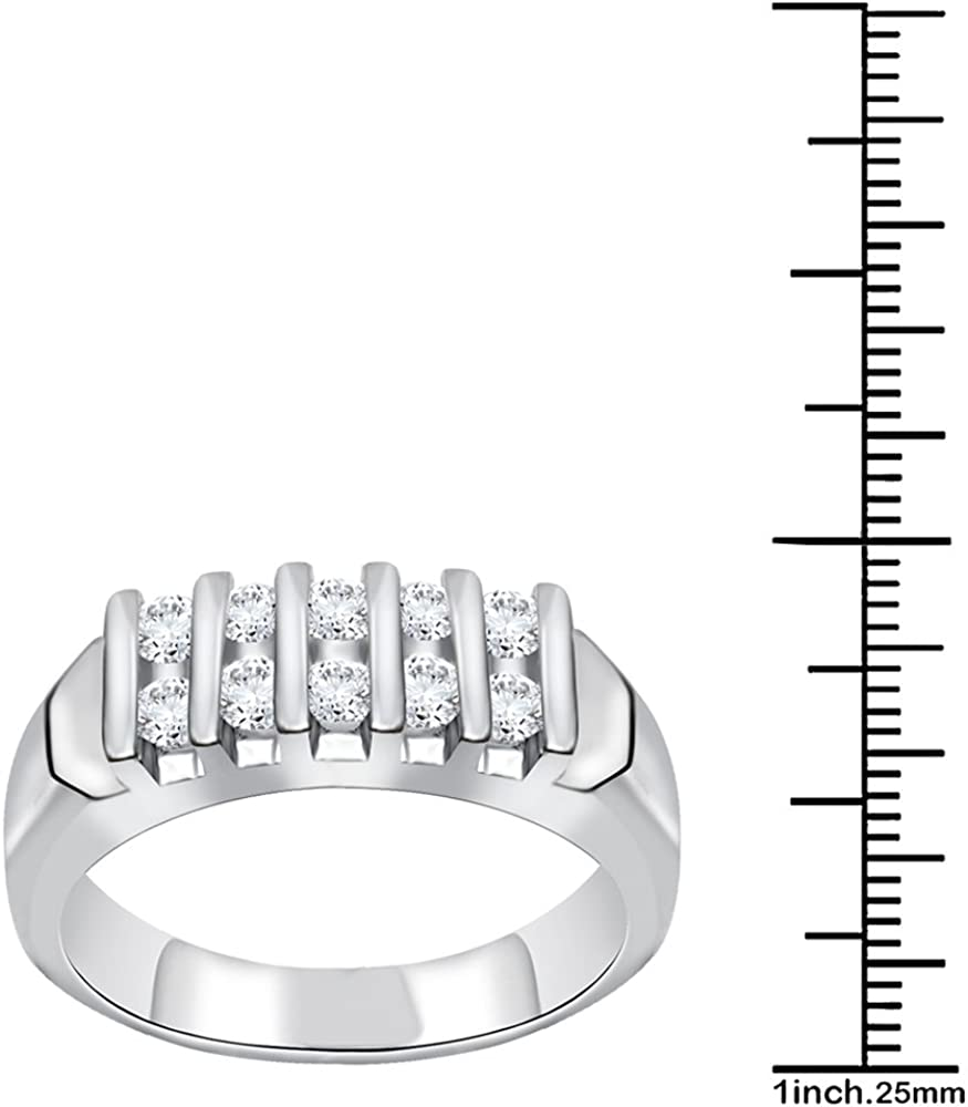 Orchid Jewelry 0.5 Ctw Synthetic White Cubic Zirconia Sterling Silver Dainty Ring For Women-Round Birthstone Gemstone A Unique Engagement Promise Ring Or a Top Gift Idea For Ladies