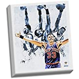 NBA New York Knicks Patrick Ewing Light Stretched Canvas Photograph, 22'' x 26''
