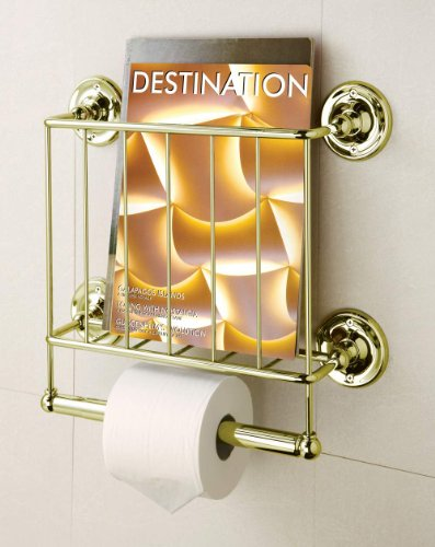 Organize It All Estate Magazine Rack in 13K Gold