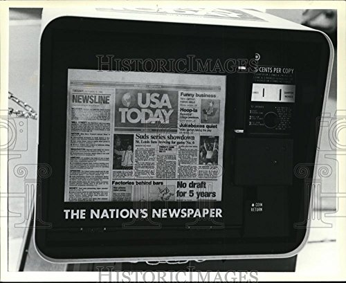 1982 Press Photo Usa Today  A New National Newspaper Launched By The Gannett Co