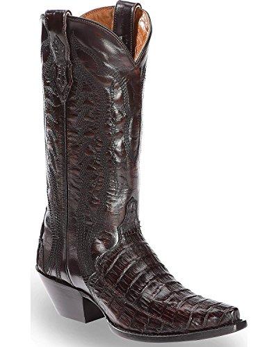Dan Post Women's Caiman Belly Triad Cowgirl Boot Snip Toe Black Cherry 8 M