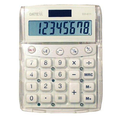 Datexx DD-611W Big Number Dual Power Desktop Caclulator (Calculator For Seniors)