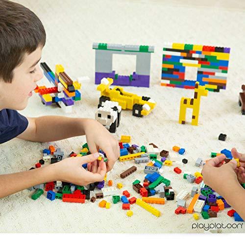 Play Platoon Building Bricks - Regular Colors - 500 Pieces Classic Bricks - Compatible with All Major Brands