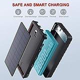 Solar Portable Charger Power Bank 26800mAh, Solar