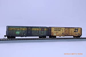 Micro Trains N BN BOXCAR - 2 Pack Weathered