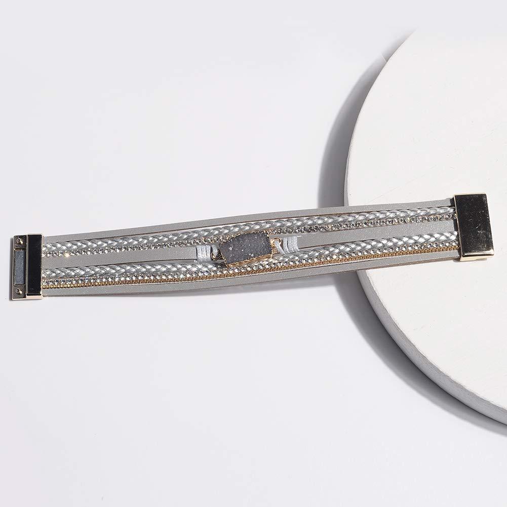 Artilady Shinning wrap Clasp Bangle for Women/…