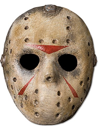 Friday The 13th Jason Voorhees Deluxe Eva Hockey Mask, Gray, One -