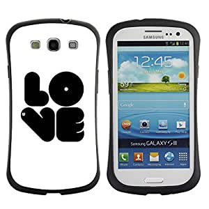 Pulsar iFace Series Tpu silicona Carcasa Funda Case para SAMSUNG Galaxy S3 III / i9300 / i747 , Black LOVE