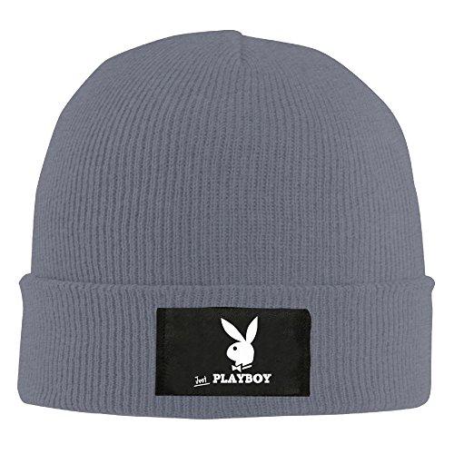 Winter Playboy Logo Bunny Symbol Asphalt Unisex Warm Cashmere Hat For Men's