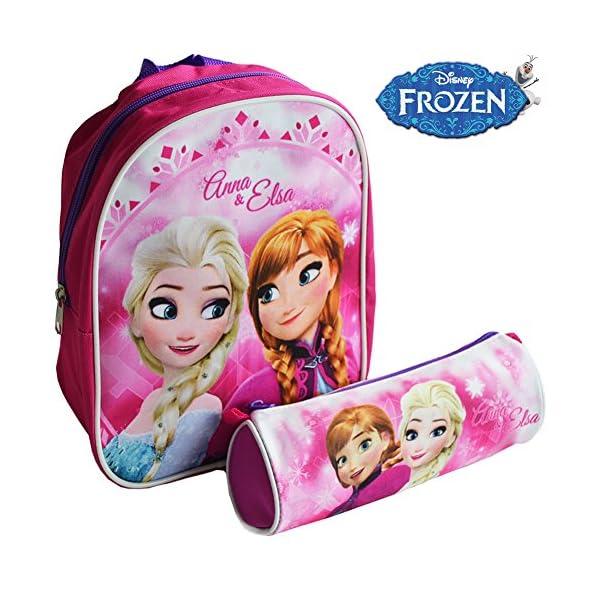 e6daf52246 ... Zainetto Disney Frozen Asilo con Astuccio Tombolino Kit Frozen Anna e  Elsa per Bambini Scuola. 🔍. Valigeria ...